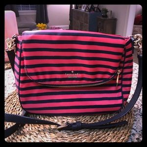 Kate Spade Nylon Stripe 2 way Crossbody Bag